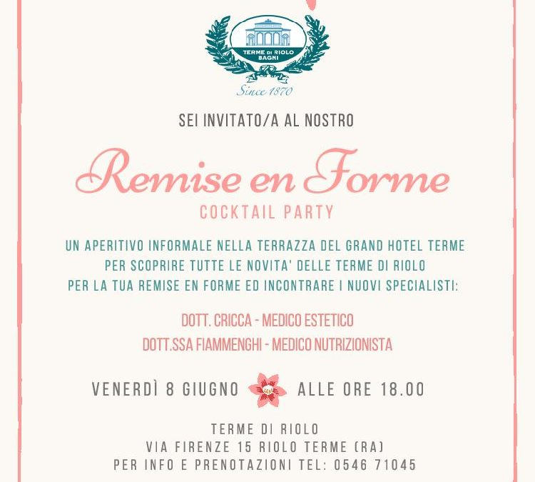 8 giugno: remise en forme Cocktail party
