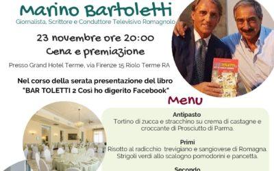 """23 novembre: consegna del premio """"Un va a zezz 2018"""" a Marino Bartoletti"""